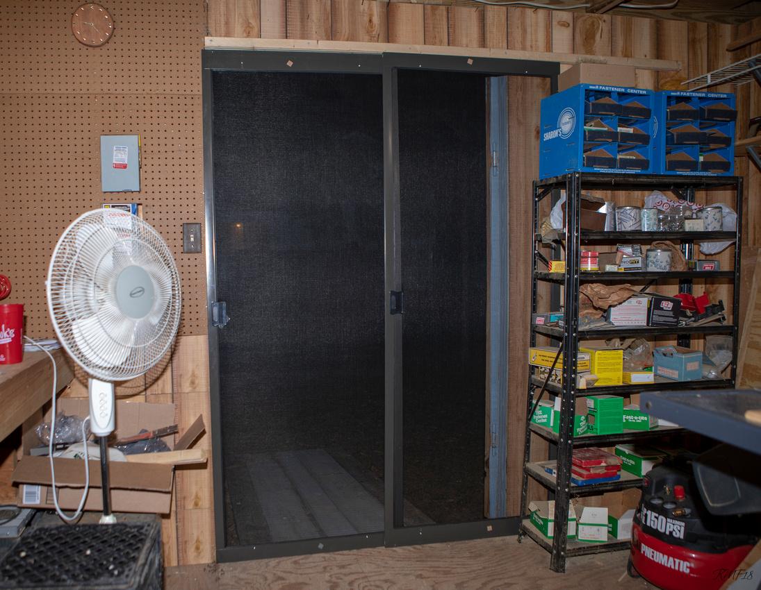 125/365 Workshop with a screen door