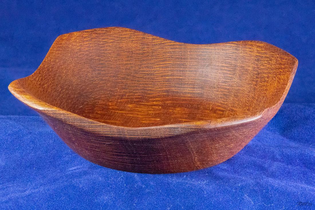 242/365 Square(ish) bowl - Leopard Wood