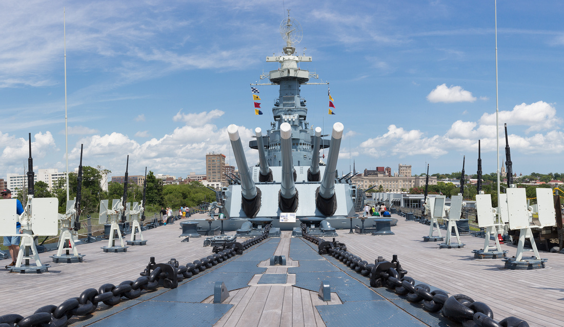 193/365 Maindeck of the USS North Carolina Battleship