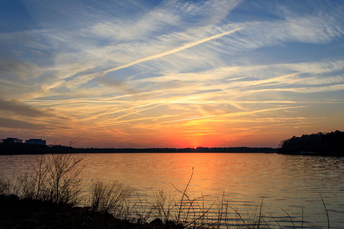 077/365 Sunset at Lake Crabtree