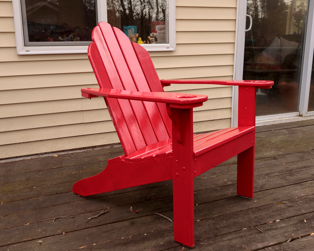 089/365 New red Adirondack chair